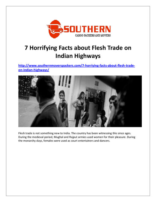 7 Horrifying Facts About Flesh Trade on Indian Highways
