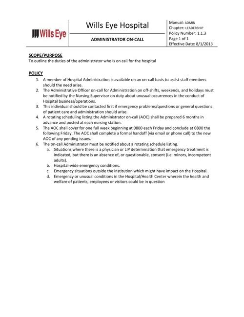Administrator On Call Resource Binder