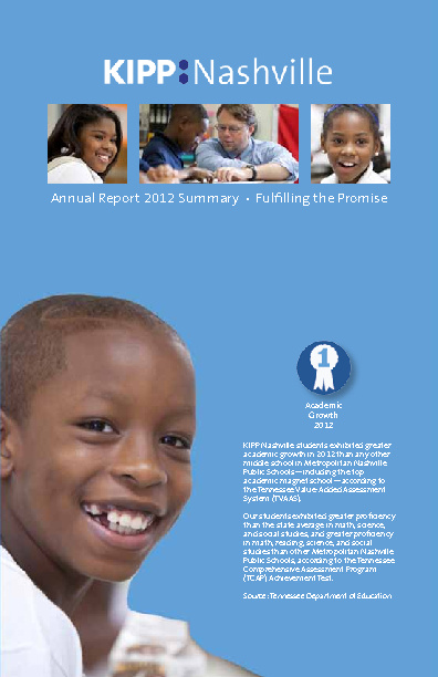 KIPP Nashville Annual Report 2012 Summary