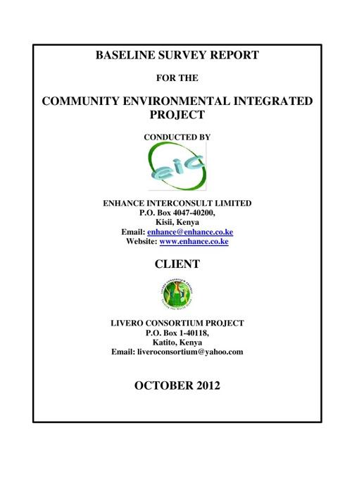 Final Baseline Report 2012