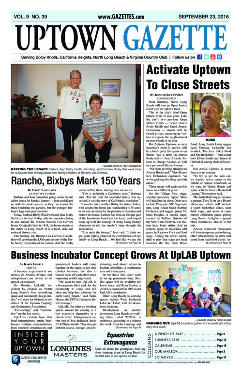 Uptown Gazette  |  September 23, 2016