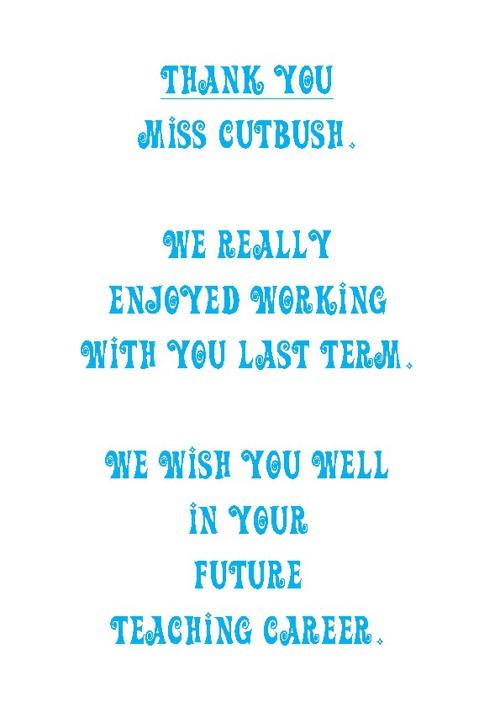 Fun with Miss Cutbush