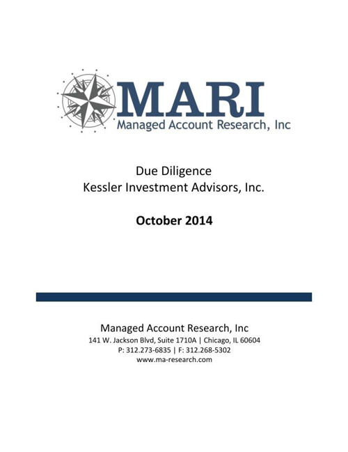 MARI Kessler Due Diligence eBook Oct14