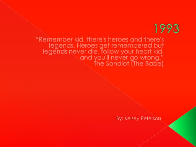 Kelsey Peterson 1993