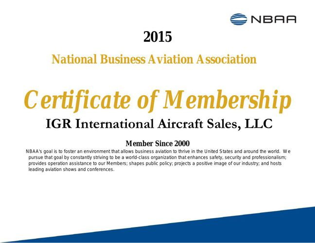 IGR With The Highest Quality Aircraft Available