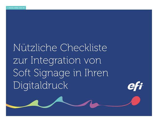 Nützliche Checkliste zur Integration von Soft Signage - DE