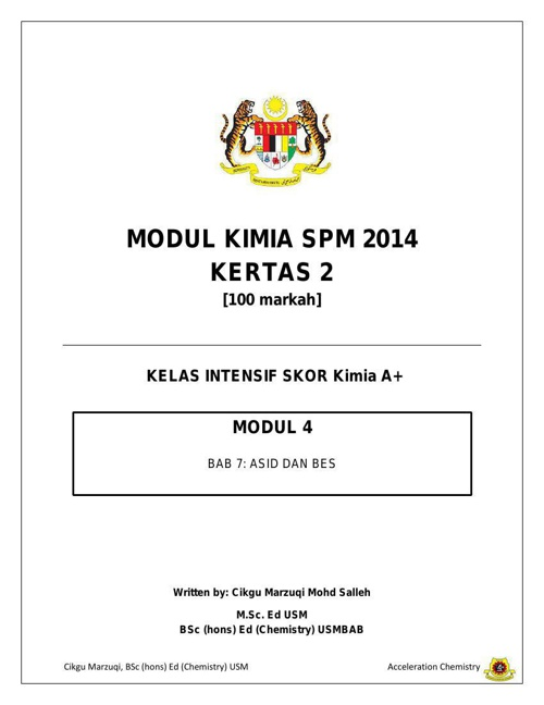 Modul 4 Kimia SPM