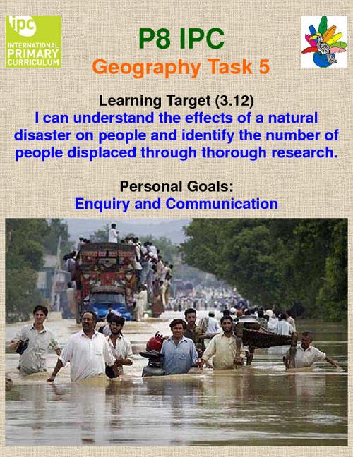 P8 IPC Geography Task 5