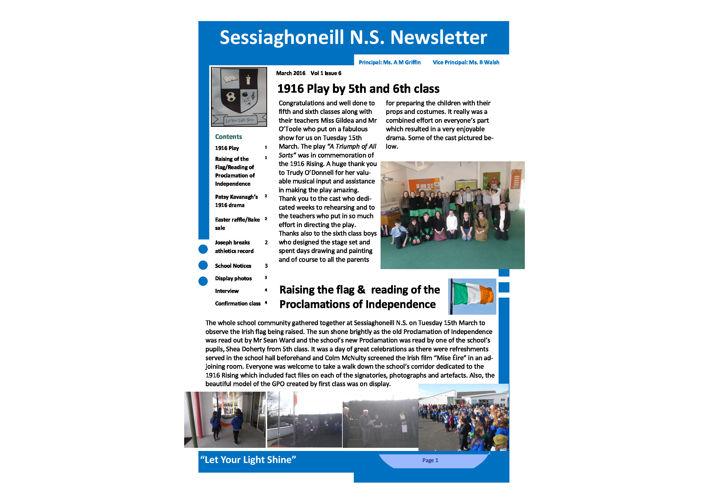 March Newsletter 2016