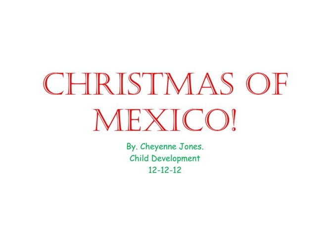 Christmasa in flippin mexico!