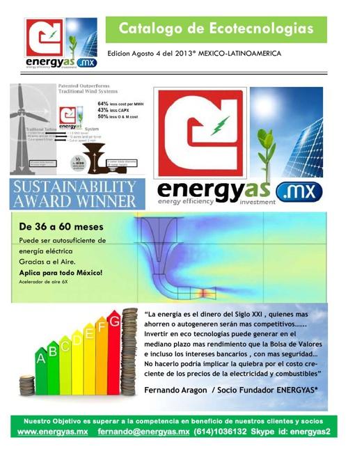 PROPUESTA DE AHORRO DE ENERGIA Y AUTOGENERACION OPCIONES SIN ENG