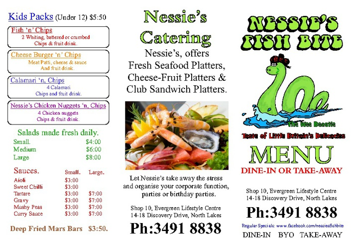 Nessies Menu