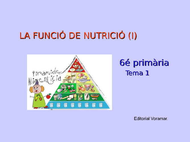 Nutrició I