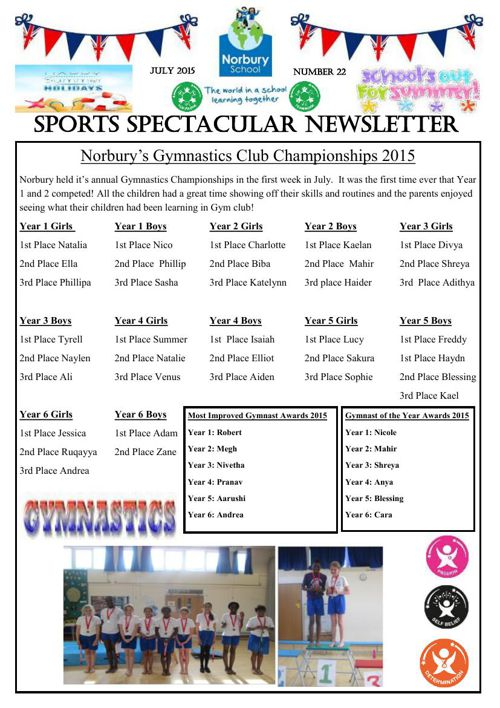 Sports Newsletter Number 22