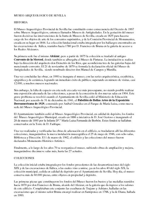 MUSEO ARQUEÓLOGICO DE SEVILLA