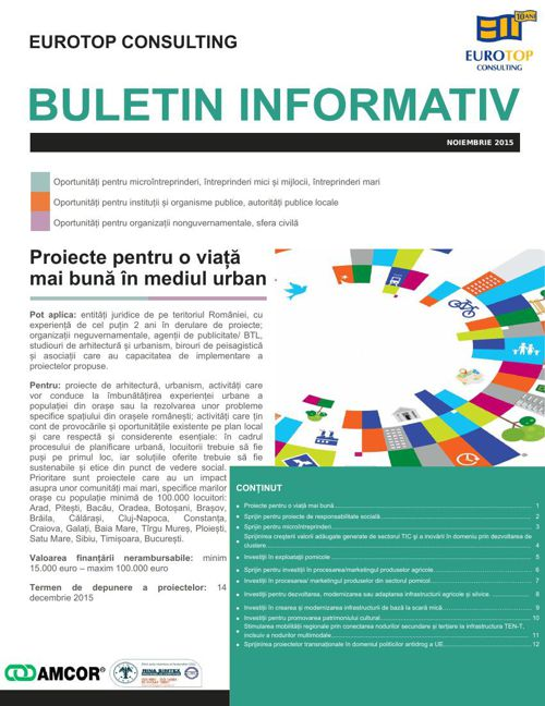 EUROTOP CONSULTING NEWSLETTER NOIEMBRIE 2015