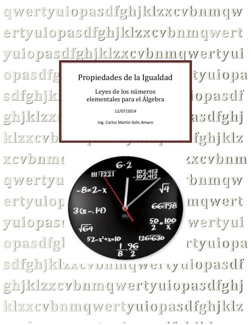Propiedades  de la igualdad_ Carlos Solís