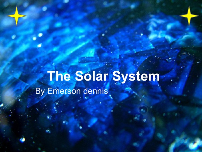 Emerson Dennis's solar system