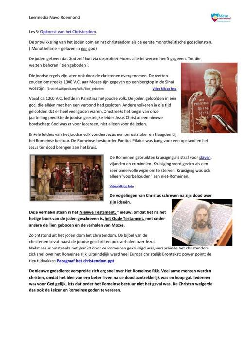 Les 5 opkomst van het Christendom (vernieuwd)