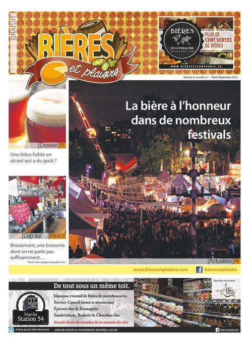 Bières et Plaisirs Volume 6 Numéro 4 - Aout 2014
