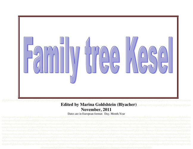 family tree Kesel