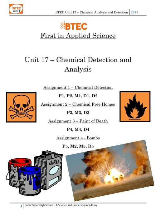 TEST (BTEC Assignments for Unit 17)