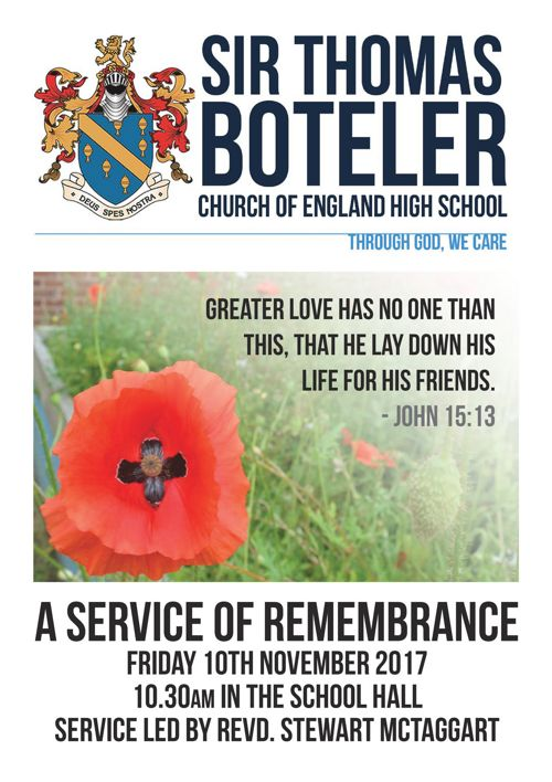 Remembrance Order of Service 2017