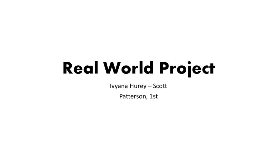 Realworld Project
