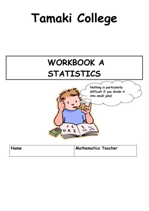 Dn Statistics Workbook A