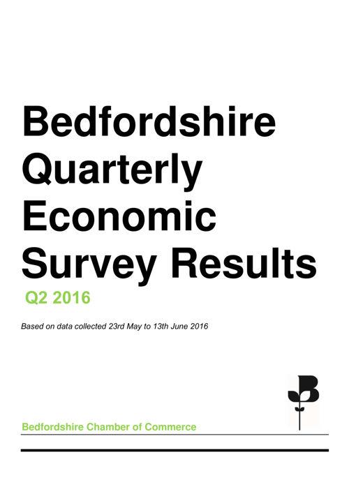 Quarterly Economic Survey Q2 16 - Bedfordshire Results