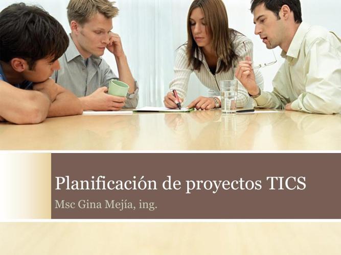 Planificación de proyectos TICS1v02