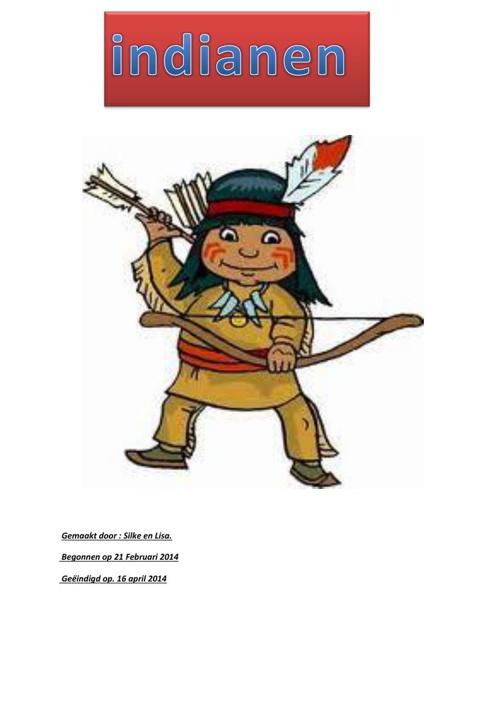 Werkstuk Indianen door Lisa en Silke