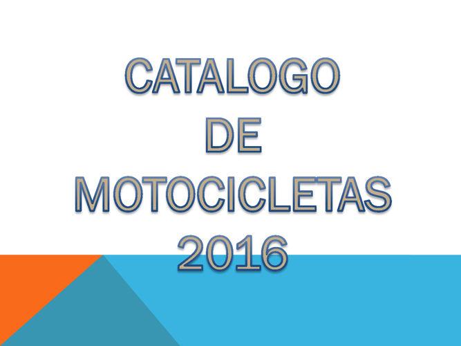 catalogo de motocicletas