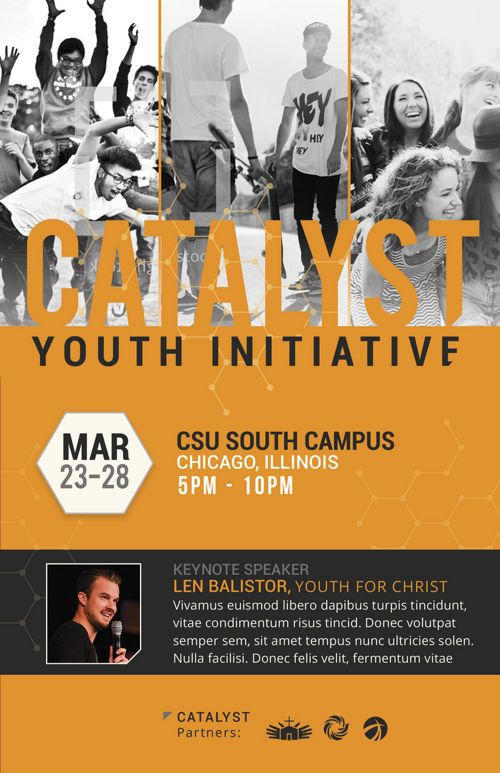 Catalyst Youth Summit Bi-Fold Brochure Template
