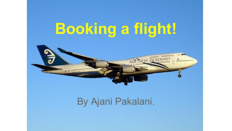 Ajani's  Booking a flight!