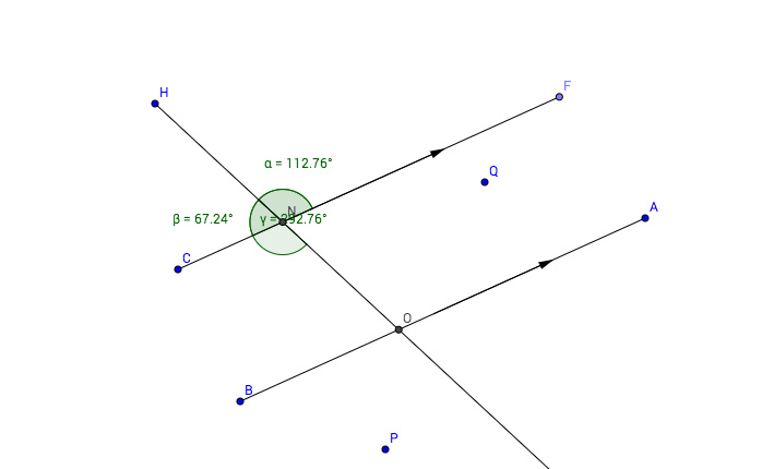 Angles on paralell lines