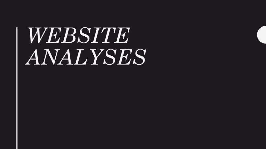 Website Analyses