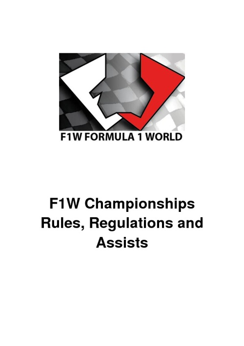 F1W Championships Rules and Assists