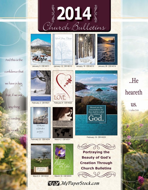 Church Bulletins 2014 - MyPaperStock.com