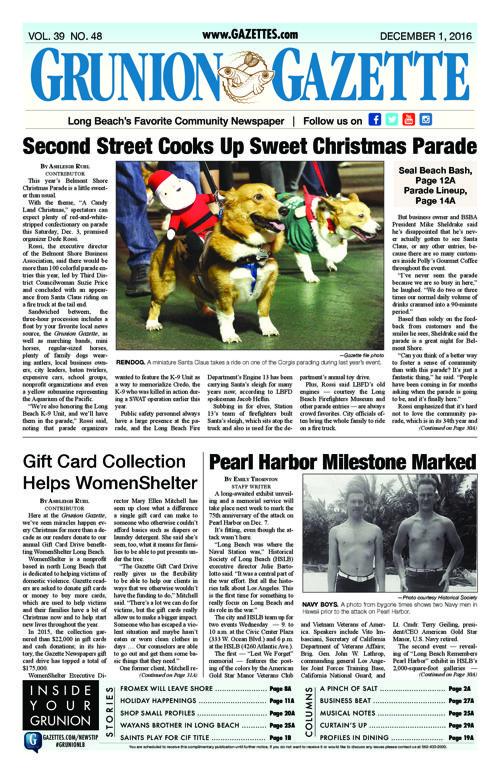 Grunion Gazette  |  December 1, 2016