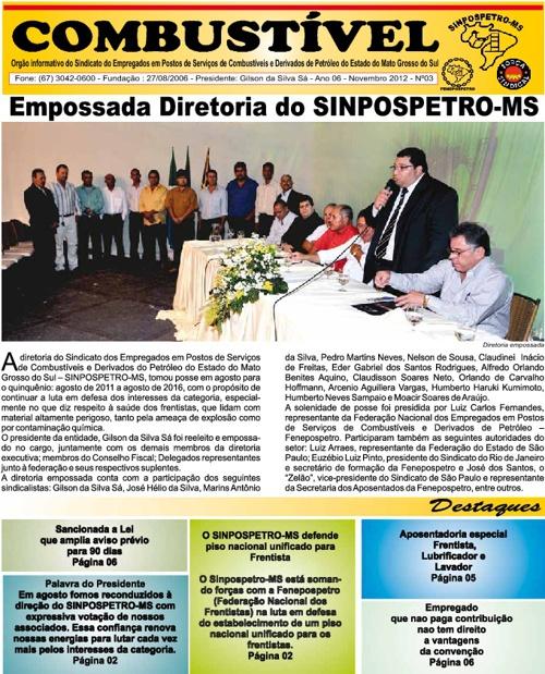 Jornal Online Sinpospetro MS
