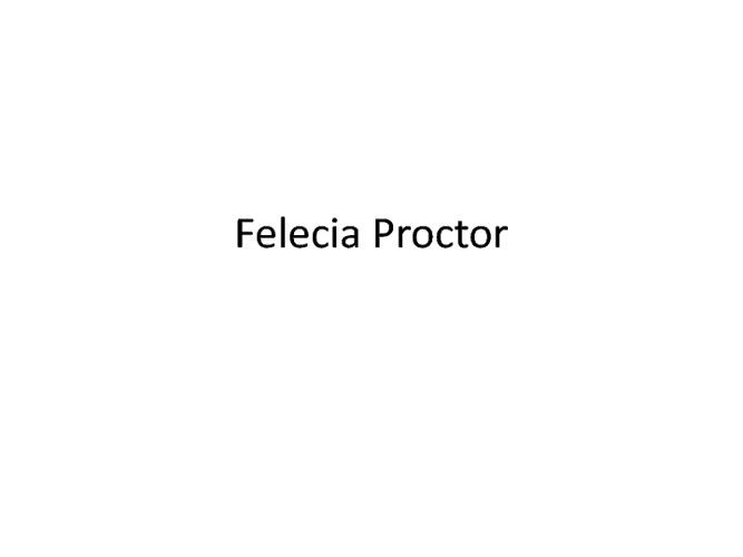 Felecia Proctor