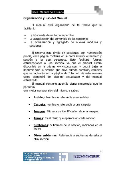 Manual Siace