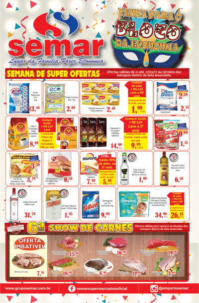 Folheto Lojas: Suzano -São Miguel -Guaianazes – Mauá – Mogi (3 l