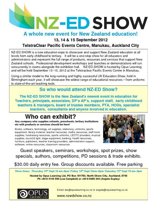 Exhibitors brochure NZ-ED SHOW