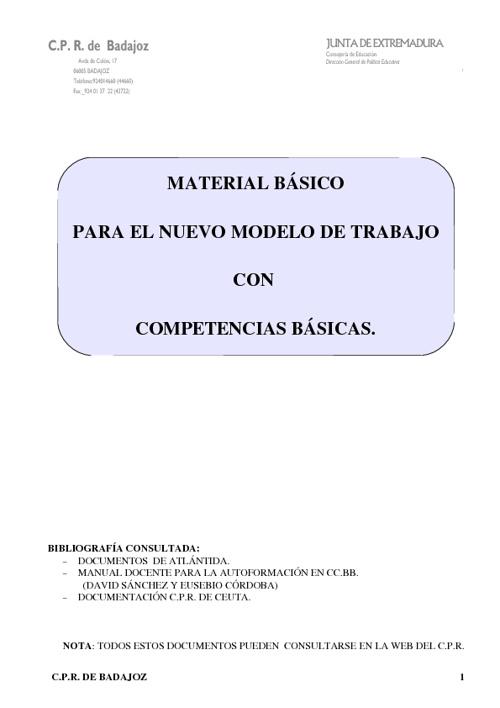 COMPETENCIAS BÁSICAS IES QUINTANA DE LA SERENA
