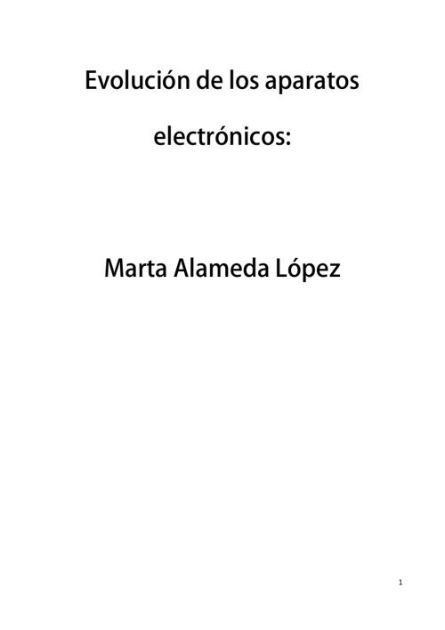Evolucion de los aparatos electronicos