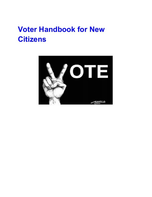 Voter Handbook for New Citizens