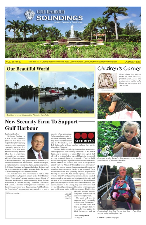 October 2013 Edition of The Soundings