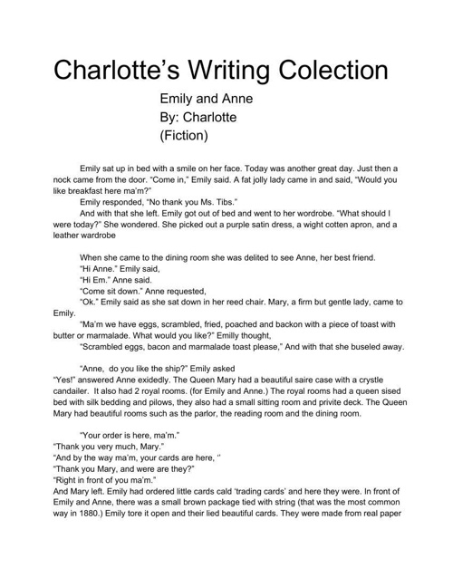 CharlottesWritingColection